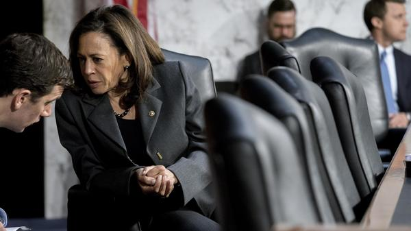 Sen. Kamala Harris is among a group of Democratic senators calling for an hearing on the addition of a citizenship question to the 2020 census.
