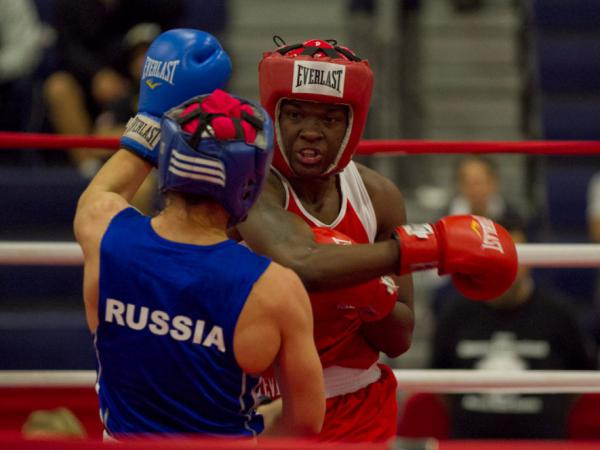 Tiara Brown, shown at the International Duel in Oxnard, Calif., last year, is competing for a spot on the U.S. women's Olympic team.