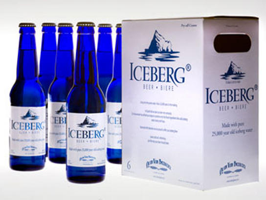 Quidi Vidi's lager is brewed with 25,000-year-old water harvested from Newfoundland's icebergs.