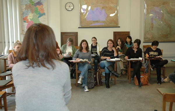 Wellesley College English professor Yoon Lee teaches a class on the rise of the novel.