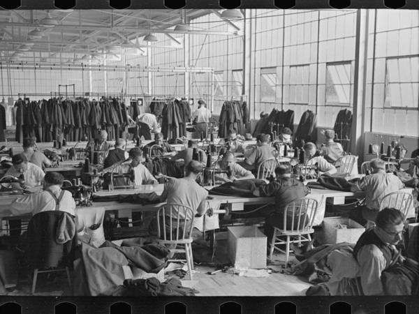 The cooperative garment factory in Roosevelt, N.J.
