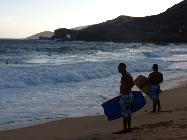 Sandy Beach Park, one of Obama's favorite spots growing up in Hawaii.