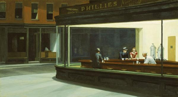 Edward Hopper is well-known in the U.S. for paintings such as <em>Nighthawks </em>(1942)<em> — </em>pensive, lonely portraits of people sitting together yet alone. He was less well-known in France, but an exhibit of his work at the Grand Palais has drawn impressive crowds.