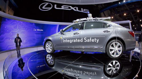 Car companies are picking up automobile concepts such as this Lexus SL 600 Integrated Safety driverless research vehicle, shown at the Consumer Electronics Show in early January in Las Vegas.