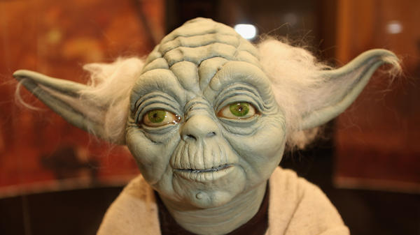 One of makeup artist Stuart Freeborn's best-known characters, Yoda.