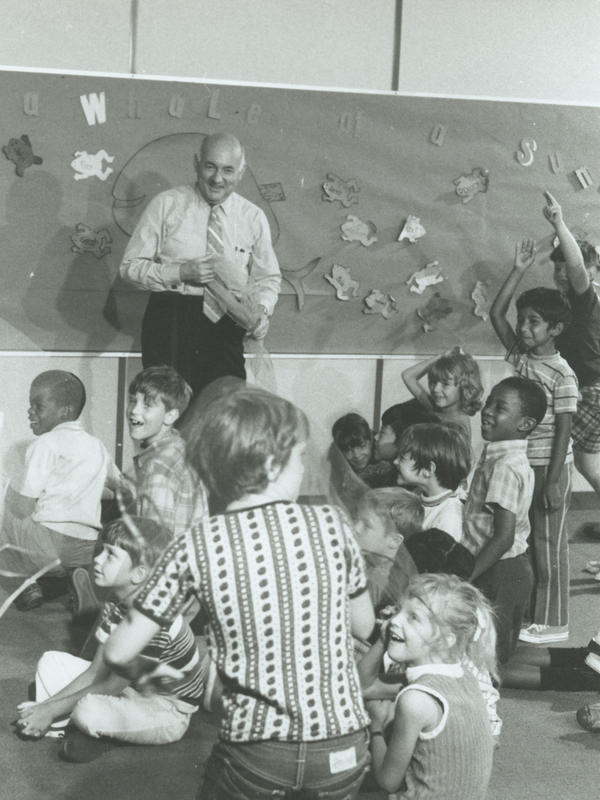 E. Paul Torrance, shown here in the mid-'80s, spent most of his career studying and encouraging students' creativity.