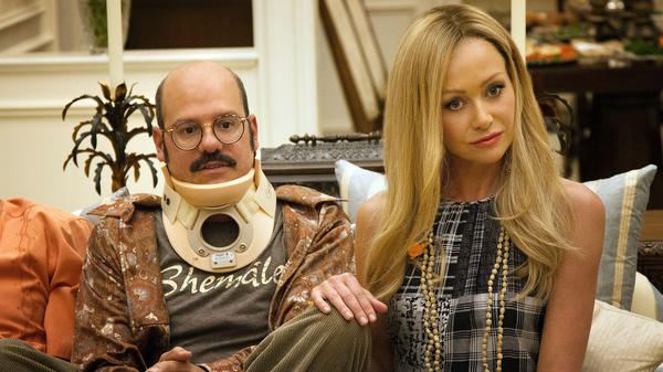 David Cross and Portia de Rossi in a scene from <em>Arrested Development</em>, which returns on Netflix on May 26.