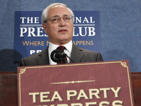Sal Russo of the Tea Party Express speaks at the National Press Club in 2011. Russo predicts the Tea Party will be re-energized for the 2014 midterm elections.