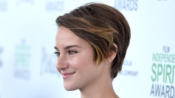 Shailene Woodley, pictured at this year's Independent Spirit Awards, stars in the forthcoming <em>Divergent</em>, a big-screen adaptation of the first book in Veronica Roth's dystopian trilogy.