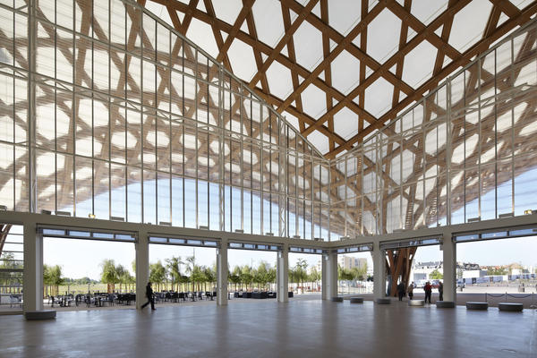 For the Centre Pompidou-Metz in northeast France, Ban designed an undulating, latticework roof.