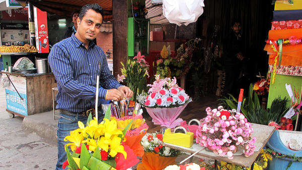 Sanjeev Dey and his wife bought their flower boutique after using their gold jewelry as collateral to get a $500 loan. Because half the population has no access to credit, millions of dollars in loans using gold are dispensed every day in India.