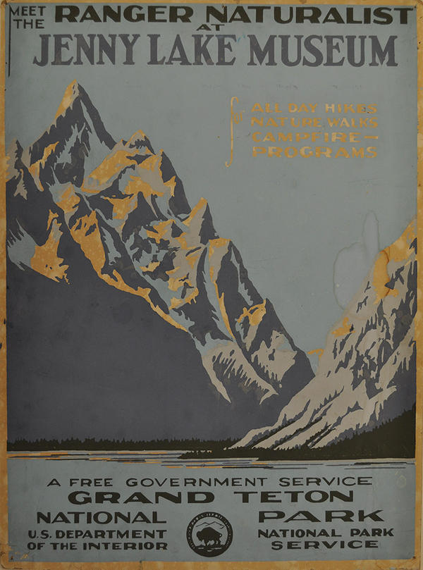 Original Grand Teton serigraph, 1938.