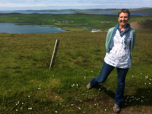 """Author Ann Cleeves has been visiting the Shetland Islands since the early 1970s. She has set five crime novels here, with a sixth on the way. """"I like the idea of long, low horizons, with secrets hidden underneath,"""" she says."""