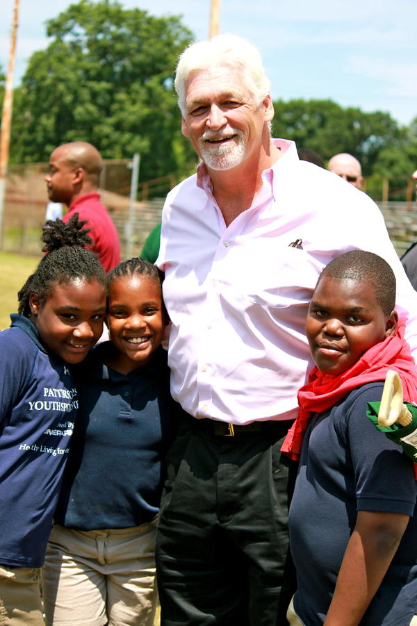 In addition to working as a pastor, Joe Ehrmann volunteers as a coach at Gilman School in Baltimore.