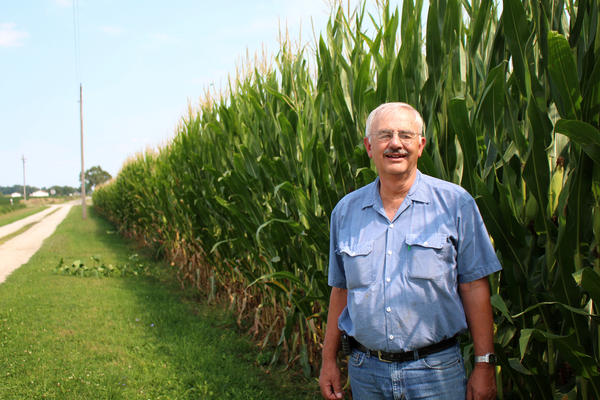 Paul Herringshaw says farmers like him have been taking steps to reduce crop runoff for years.