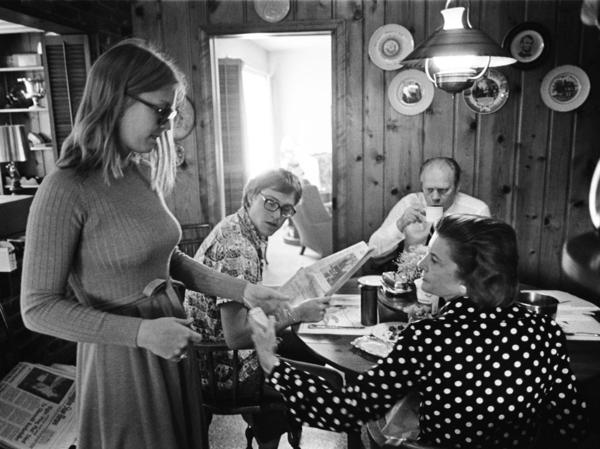 President Gerald Ford and First Lady Betty Ford, with Jack and Susan Ford at their Alexandra, Va. home on August 12, 1974. The Ford family lived there for 10 days until the executive mansion was ready.
