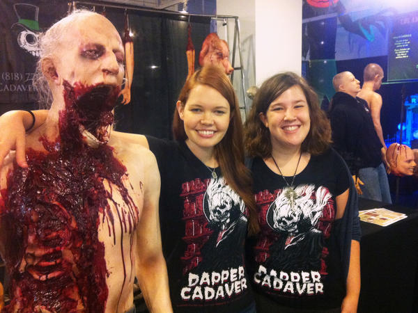 Grace Feigh and Melissa Sack of Dapper Cadaver, a Hollywood-based company that specializes in horror props for movies, television and Halloween enthusiasts.