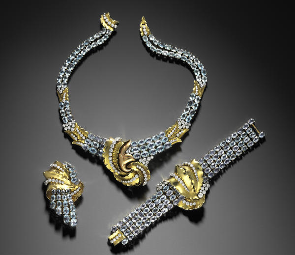 Believe it or not, Joan Crawford's suite of jewelry, designed by Verger Freres, was more restrained.