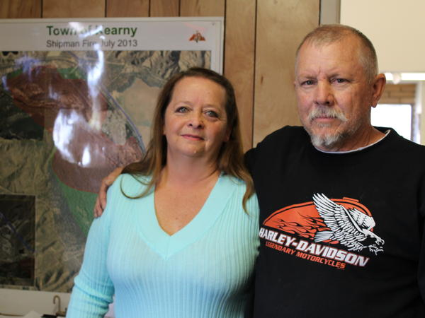 Darlene Hosea, pictured with her husband James Hosea, was recently laid off from her haul truck driver position at the Ray Mine.