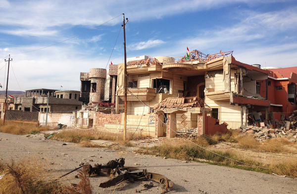 Sinjar city, newly freed from ISIS control by U.S.-backed Kurdish forces, lies in ruins.