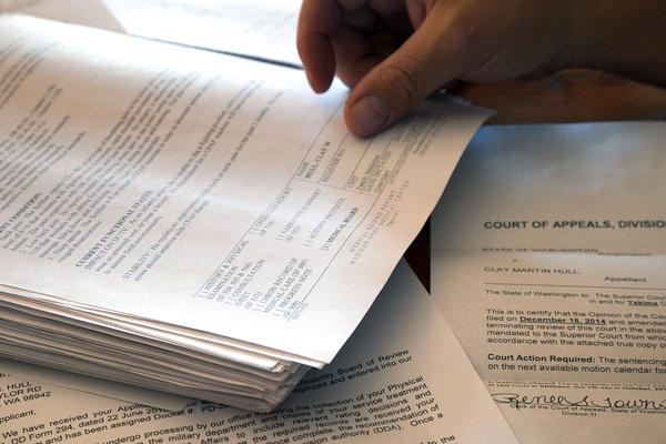 Clay Hull kept meticulous records of the paperwork he sent to the VA.