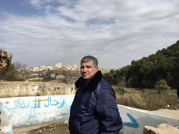 Jabar Mousa was 15 when he first met Jewish settlers that would move to Beit El. Mousa is now a member of the council of Dura el-Qare, a nearby Palestinian village.