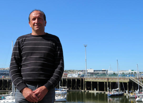 "Stephane Pinto has been fishing for 30 years in Boulogne-sur-Mer and is now vice president of the regional fishing committee. ""If Brexit means we have to stay in French waters, I think it will start a war among our own fleets,"" he says."