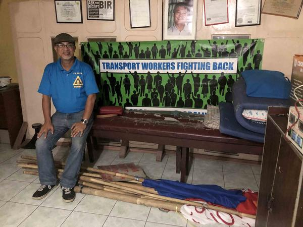 George San Mateo is the leader of Piston, a nationwide transportation workers' rights group in the Philippines. He's called on President Rodrigo Duterte to scrap the current transport modernization plan and create a new one focusing on nationalizing transport.