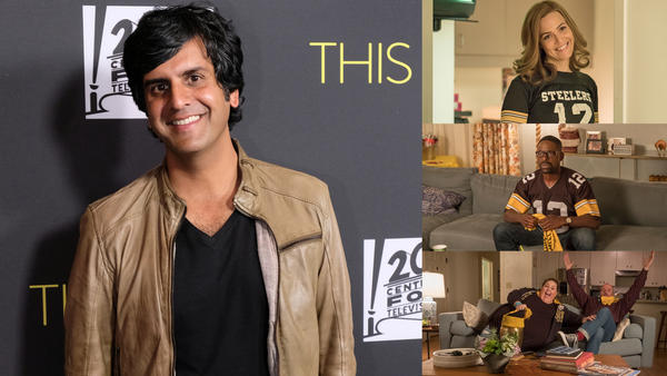 <em>This Is Us</em> composer Siddhartha Khosla (left), clips from Season 2 Episode 14: 'Super Bowl Sunday' (right)