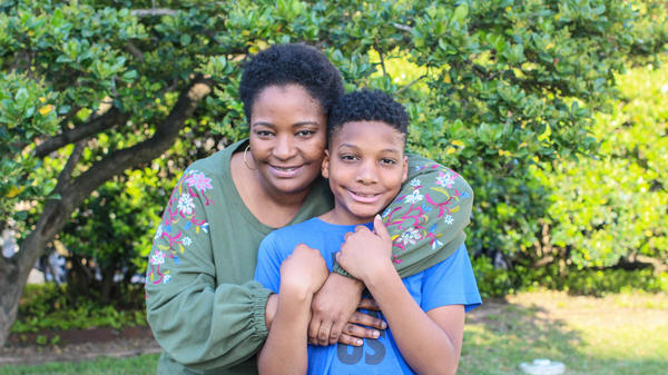 At their StoryCorps interview in Houston, Tanai Benard, 34, and her son, Dezmond Floyd, 10, discuss what's become a grim yet routine topic at schools: active shooter drills.