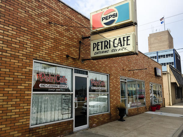 Just down the street from the steel mill in Granite City, Ill., stands Petri Cafe. Owner Larry Petri says for the past 71 years the ebb and flow of the mill has always affected the cafe's business.