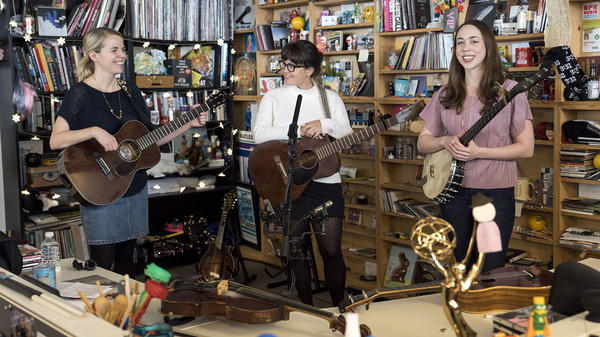 I'm With Her performs a Tiny Desk Concert on February 23, 2018 (Eslah Attar/NPR).