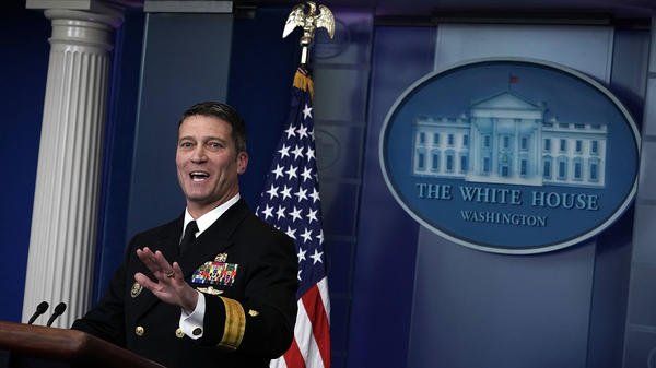 Dr. Ronny Jackson speaks during the daily White House press briefing on January 16, 2018, in Washington, D.C.
