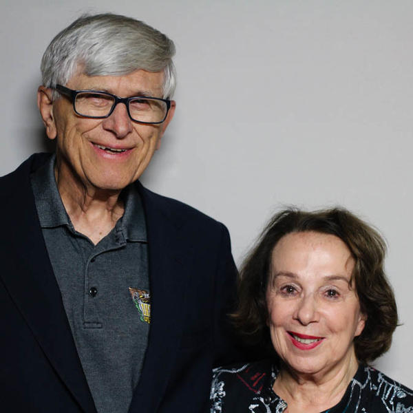 Kay Johnston Massar and her husband, Cy Massar, at their StoryCorps interview in San Francisco.