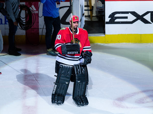 Scott Foster, an accountant who plays in an amateur recreational hockey league, was suddenly called in as an emergency backup goalie for the Chicago Blackhawks on Thursday night.