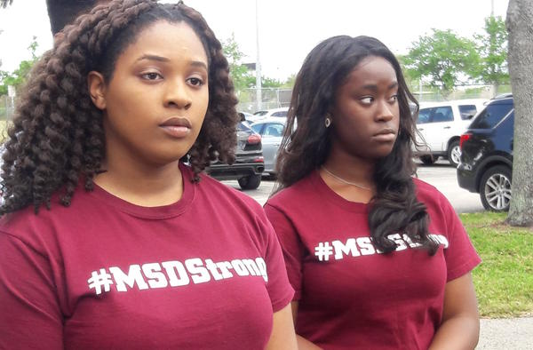 A group of black students from Marjory Stoneman Douglas High called a press conference to say they have concerns that may not mirror those of their white peers.