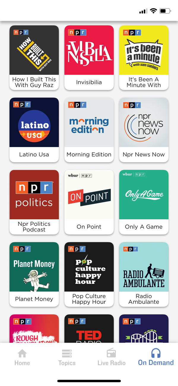 Listen to NPR podcasts
