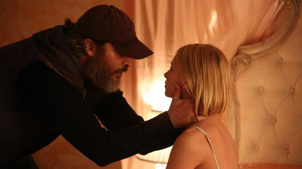 Joaquin Pheonix plays a damaged man  tasked with saving a missing teenage girl (Ekaterina Samsonov) in Lynne Ramsay's <em>You Were Never Really Here. </em>
