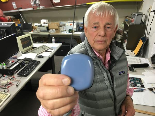 Jim Skorpik developed a gunshot detector for schools at Pacific Northwest National Laboratory in Richland, Washington.