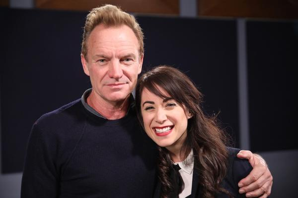 Talia poses with Sting.