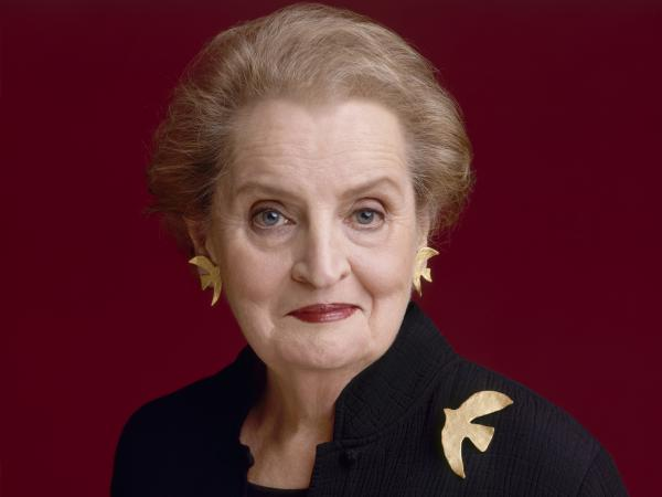 Madeleine Albright served as secretary of state under President Clinton from 1997-2001.