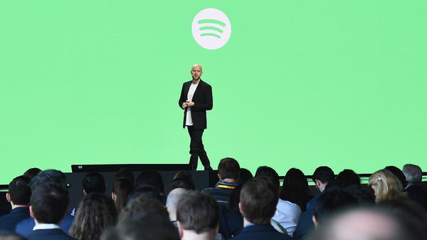 Spotify Founder and Chief Executive Officer Daniel Ek speaks onstage during Spotify Investor Day on March 15, 2018 in New York City.
