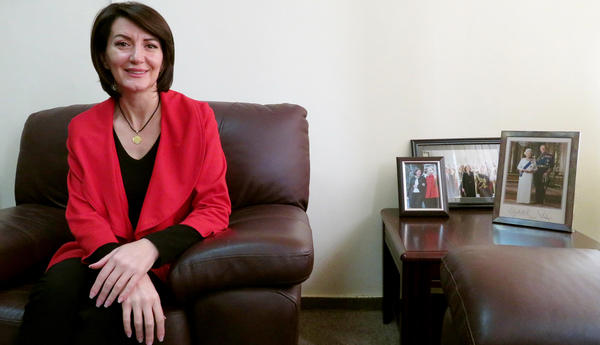 """Atifete Jahjaga was a top-ranking officer in Kosovo's police force when parliament chose her to be the first female president of the country in 2011. She pushed parliament to compensate women who are wartime rape survivors. """"I told people, 'This is your mother, your sister, your daughter,'"""" she says."""