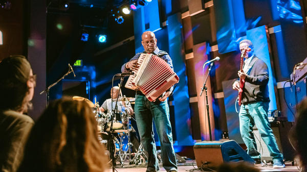 Hailu Mergia performs live at World Cafe Live in Philadelphia, PA.