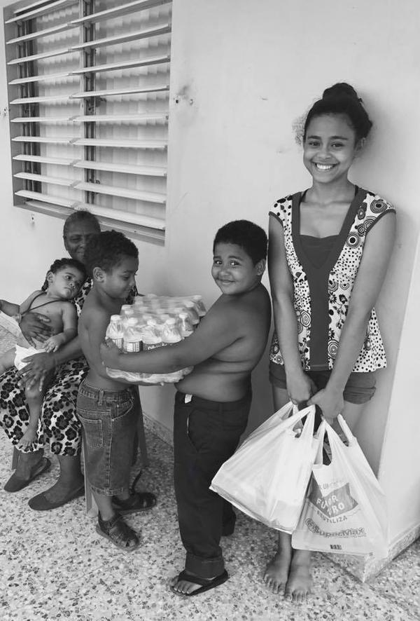 Veronica Montalvo (not pictured) has spent time delivering food, water, and toiletries to Puerto Ricans outside of San Juan.