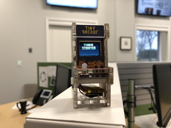 The Tiny Aracade comes with several pre-programmed games, but you can create your own.
