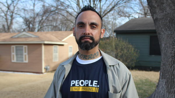 William Roundtree worked as a canvasser for the American Civil Liberties Union in Dallas ahead of the Texas primary election, part of the organization's push to educate voters about a prosecutor's power and how the office can be used to drive reforms.