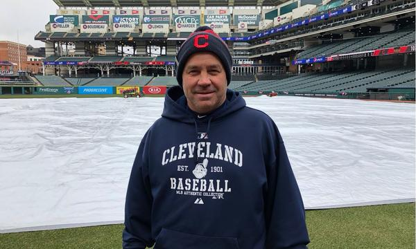 Brandon Koehnke has been head groundskeeper for the Indians for 25 seasons.