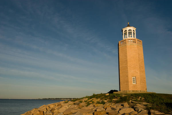 Avery Point Lighthouse in Groton, Conn.