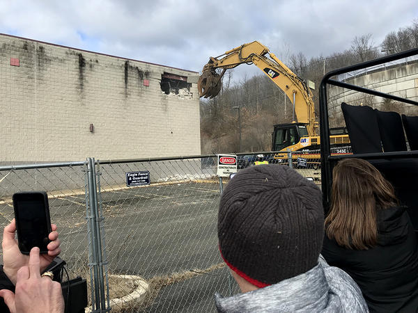 Demolition began last month at the site of the proposed third Connecticut casino, but construction is being held up because there's no federal approval.